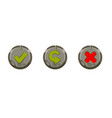 set stone round buttons for menu vector image vector image