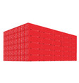 stack of cargo containers with perspective view vector image vector image