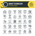 technology outline icons vector image vector image