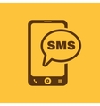 The sms icon Smartphone and telephone vector image vector image