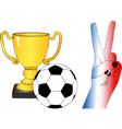 To root for France vector image vector image