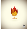 Tongues of flame icon logo of flame fire icon vector image vector image