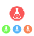 Toxicological research in flask vector image vector image