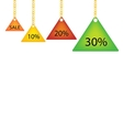 Triangle Label Holding on A Golden Chain vector image