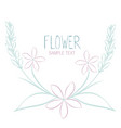 various flowers and leaves forming a bouquet on vector image vector image