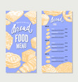 vintage food restaurant menu template vector image vector image