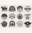 vintage monochrome outdoor recreation emblems vector image vector image