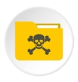 Virus in e-mail icon flat style vector image vector image