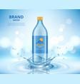 water advertizing clean transparent bottle vector image vector image