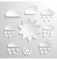 Weather icons white background vector image