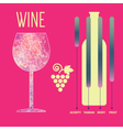 Wine tasting card infographic vector image vector image
