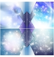 Winter backgrounds set with snowflakes Abstract
