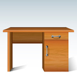 wood desk vector image vector image
