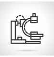 X-ray apparatus simple black line icon vector image
