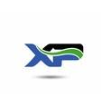 XP logo vector image vector image