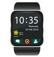 Smartwatch home screen vector image