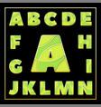 colorful enamel mosaic jewerly stylized font vector image