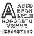 3d alphabet set black font on a white background vector image vector image