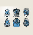 a collection of emblems stickers badges logos vector image vector image