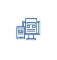 adaptive interface line icon concept adaptive vector image vector image