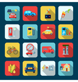 Alternative Energy Square Icons Set vector image vector image