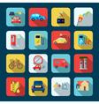 Alternative Energy Square Icons Set vector image