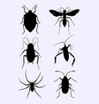 animal bugs silhouette vector image