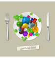 Artificial food vector image vector image