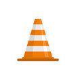 attention cone icon flat style vector image vector image