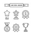 award linear icons set vector image vector image