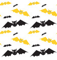 bats seamless pattern halloween style vector image