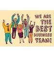 Best business team happy workers color vector image vector image