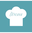 Big chef hat with word Menu inside Flat design vector image vector image