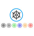 boat steering wheel rounded icon vector image vector image