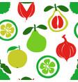 brush grunge exotic fruits seamless pattern vector image vector image