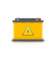 car battery realistic icon electric accumulator vector image