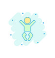 cartoon baby icon in comic style child sign vector image vector image