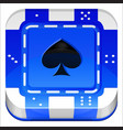 Casino Poker Chip 3d square app icon vector image