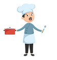 chef cooking vector image