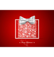 Christmas background with gift box and snowflakes vector image vector image