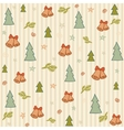 christmas cute drawn pattern background pattern vector image