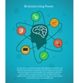 Creative brain idea and brainstorming poster vector image vector image