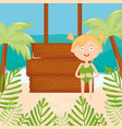 cute little girl with swimsuit on beach vector image vector image