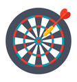 dart and dartboard vector image vector image
