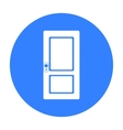 Door icon of for web and vector image vector image