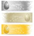Easter Egg banner vector image vector image