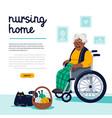 elderly woman leisure in nursing home african vector image vector image
