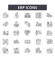 erp line icons signs set outline vector image vector image