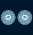 fantastic hypnotic eyes of a fairy creature vector image vector image