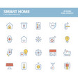 flat line filled icons design-smart home vector image